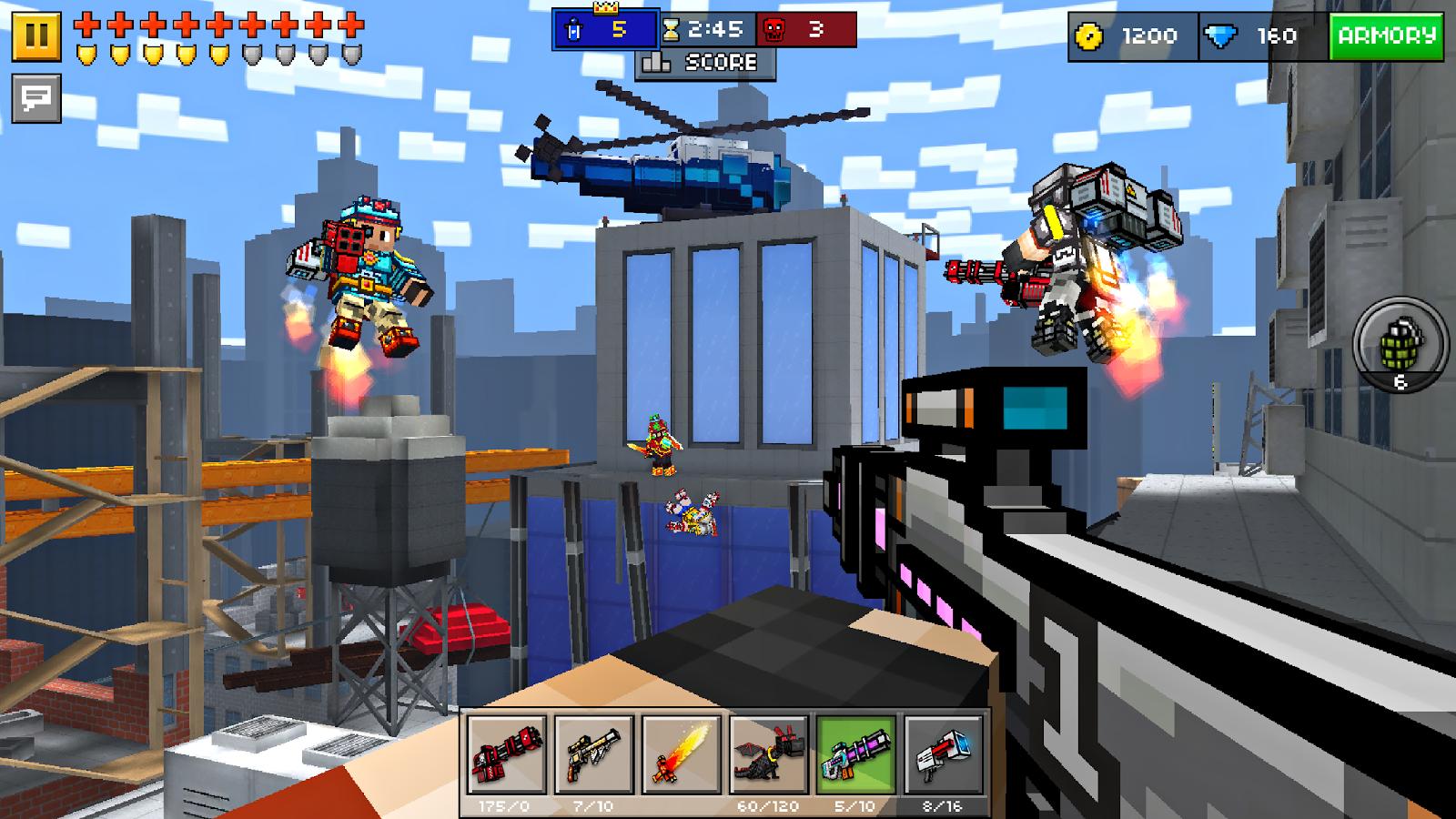 Скачать pixel gun 3d мод